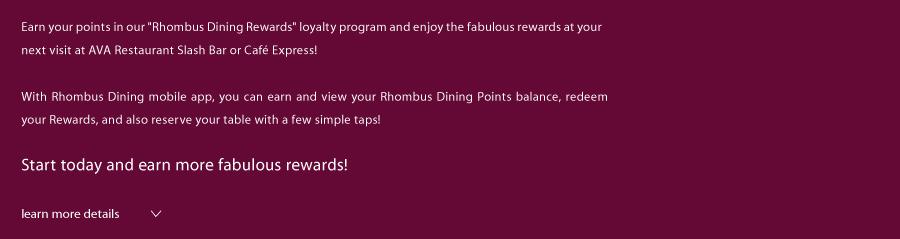 Rhombus Dining Mobile App